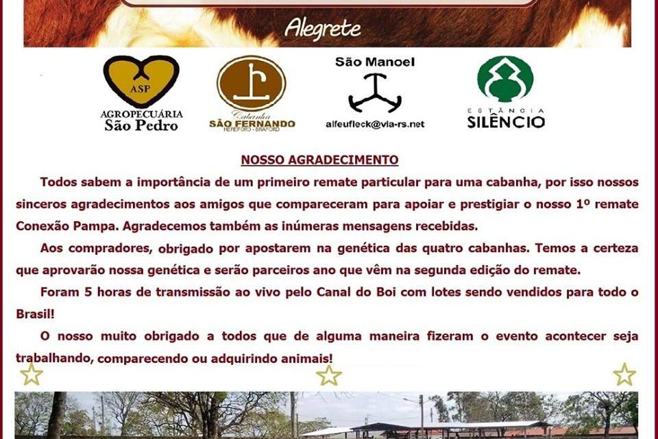 Remate Conexão Pampa atinge 2 milhões em sua 1ª edição em Alegrete
